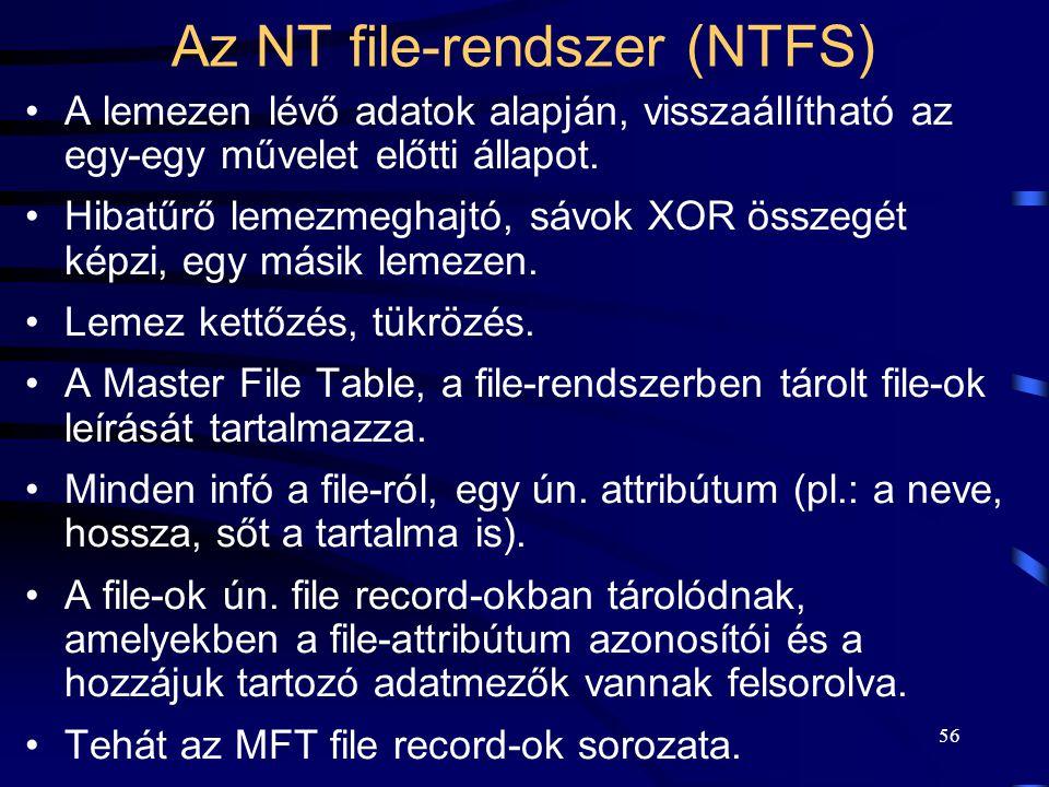 Az NT file-rendszer (NTFS)