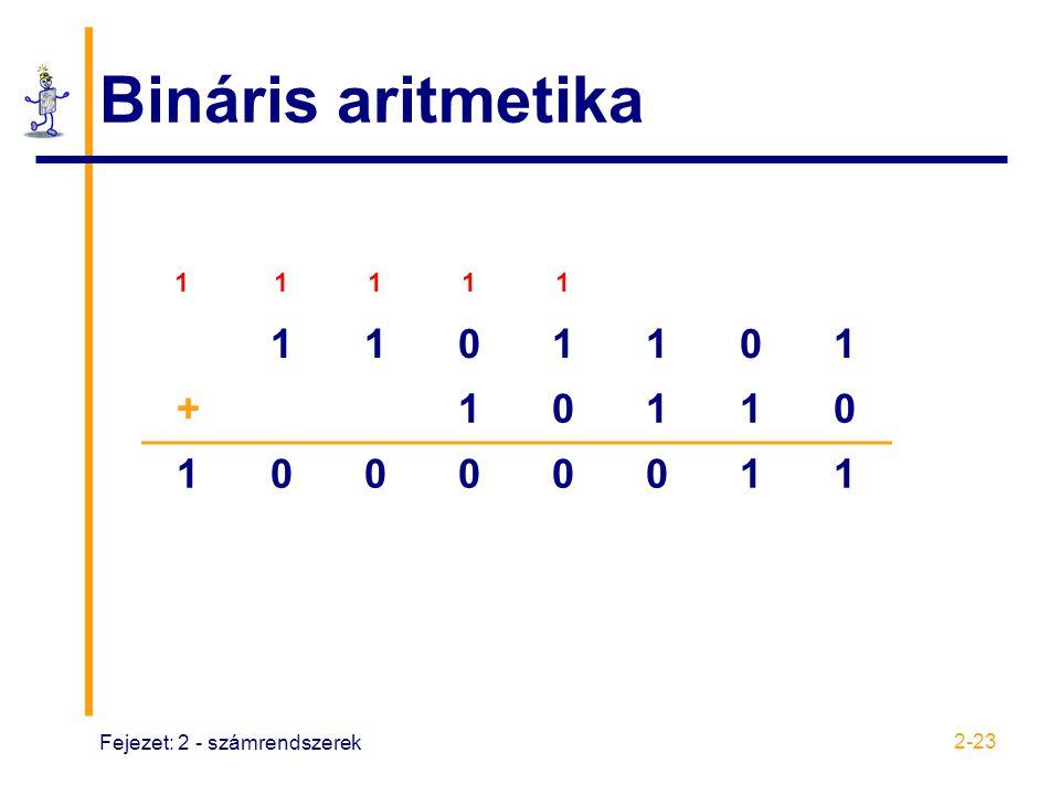 Bináris aritmetika 1 + Fejezet: 2 - számrendszerek