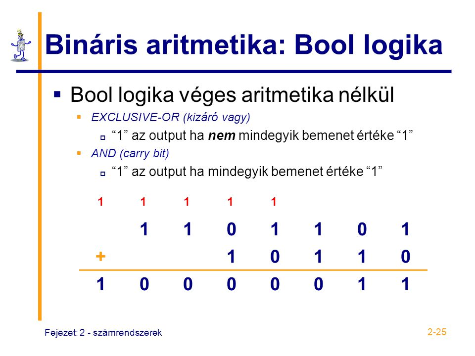 Bináris aritmetika: Bool logika