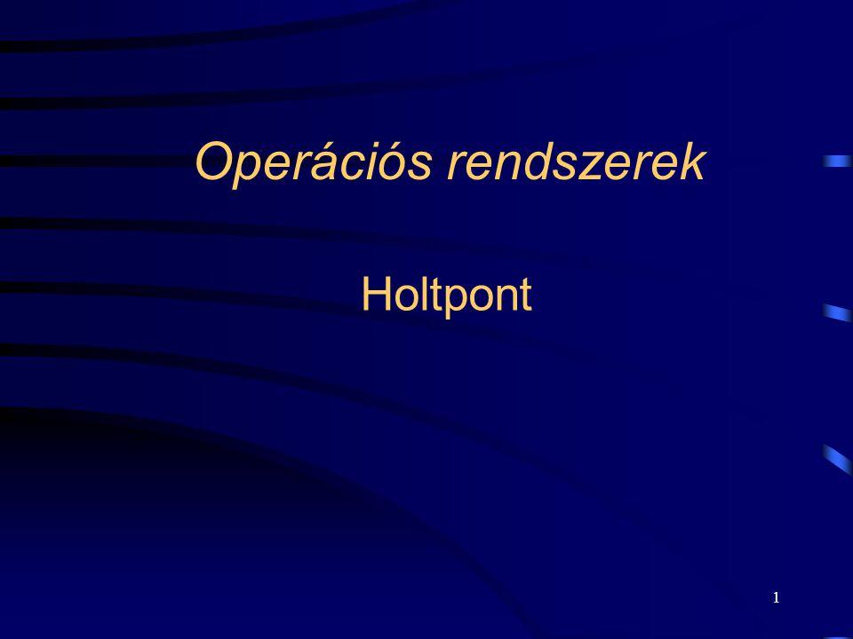 Operációs rendszerek Holtpont
