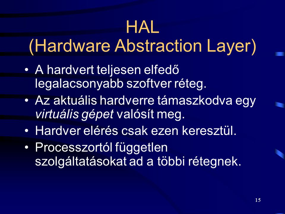 HAL (Hardware Abstraction Layer)