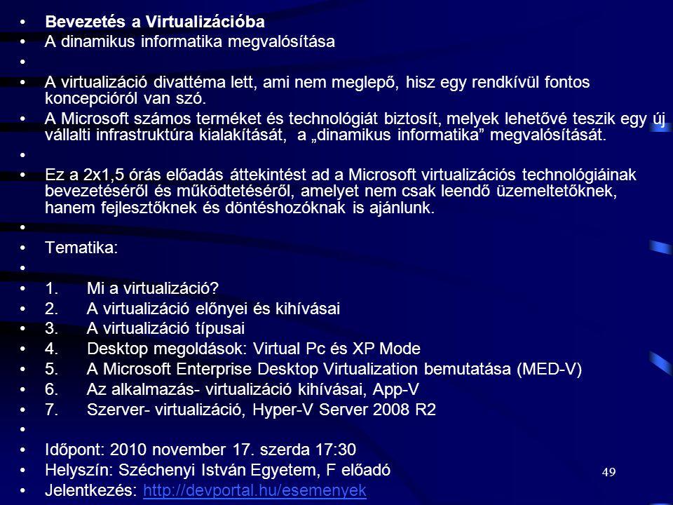 Bevezetés a Virtualizációba