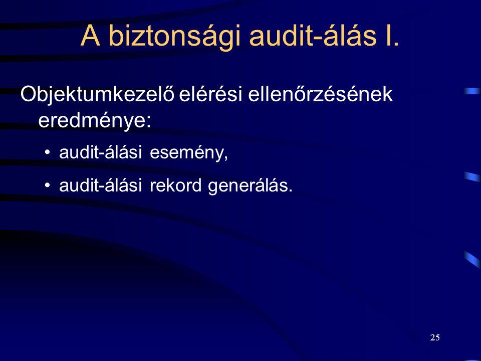 A biztonsági audit-álás I.