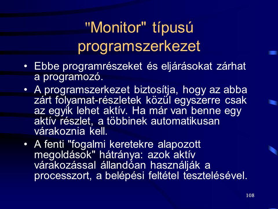 Monitor típusú programszerkezet