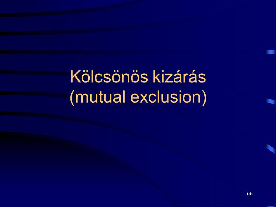 Kölcsönös kizárás (mutual exclusion)