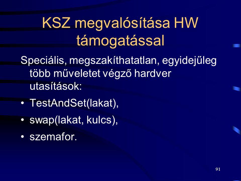 KSZ megvalósítása HW támogatással