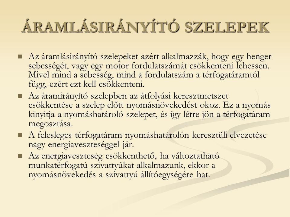 ÁRAMLÁSIRÁNYÍTÓ SZELEPEK