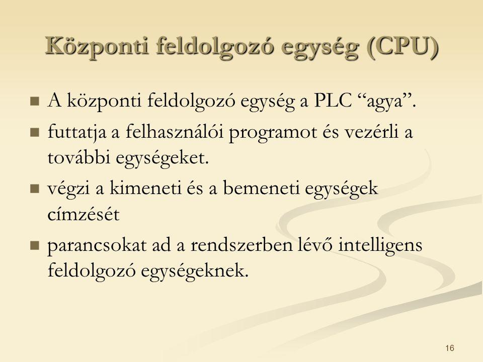 Központi feldolgozó egység (CPU)