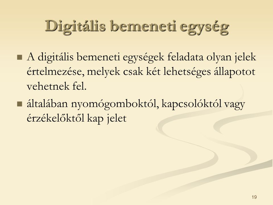 Digitális bemeneti egység