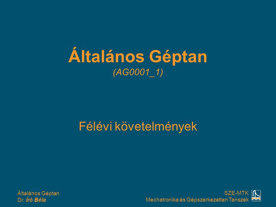Általános Géptan (AG0001_1)
