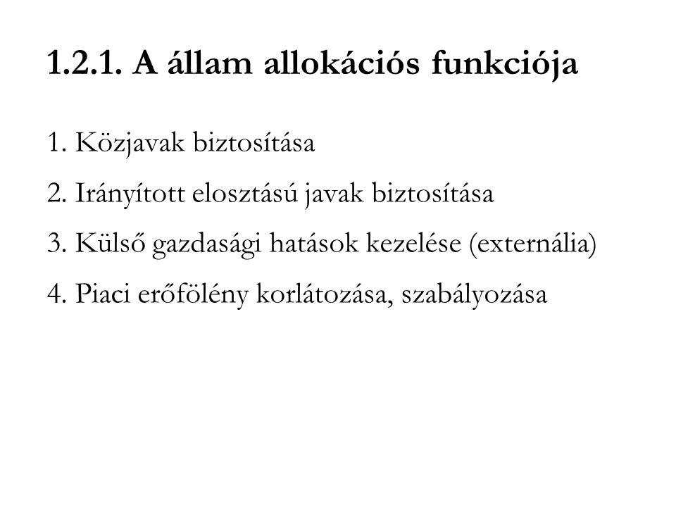 1.2.1. A állam allokációs funkciója