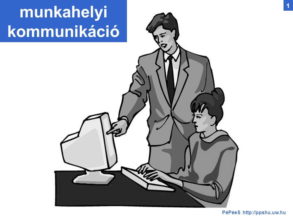 munkahelyi kommunikáció PéPéeS http://ppshu.uw.hu