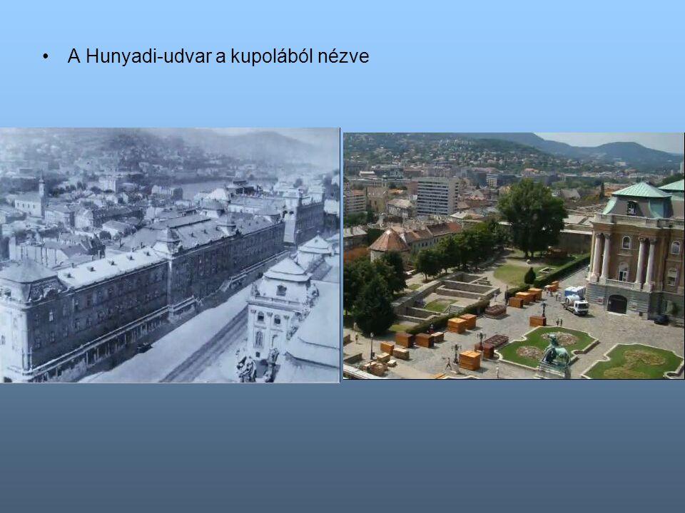 A Hunyadi-udvar a kupolából nézve