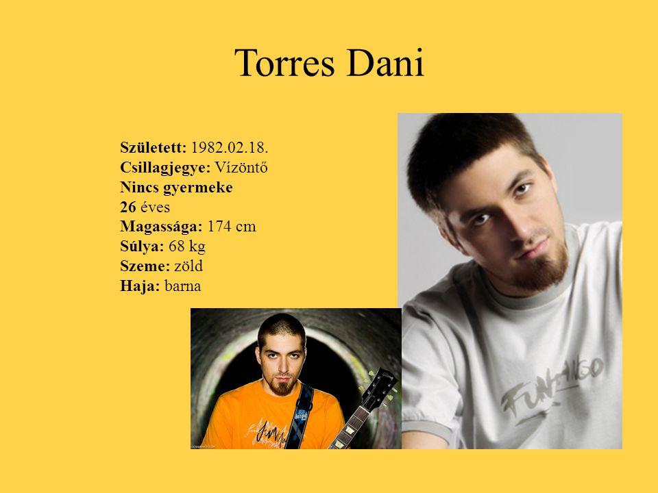 Torres Dani Született: 1982.02.18. Csillagjegye: Vízöntő