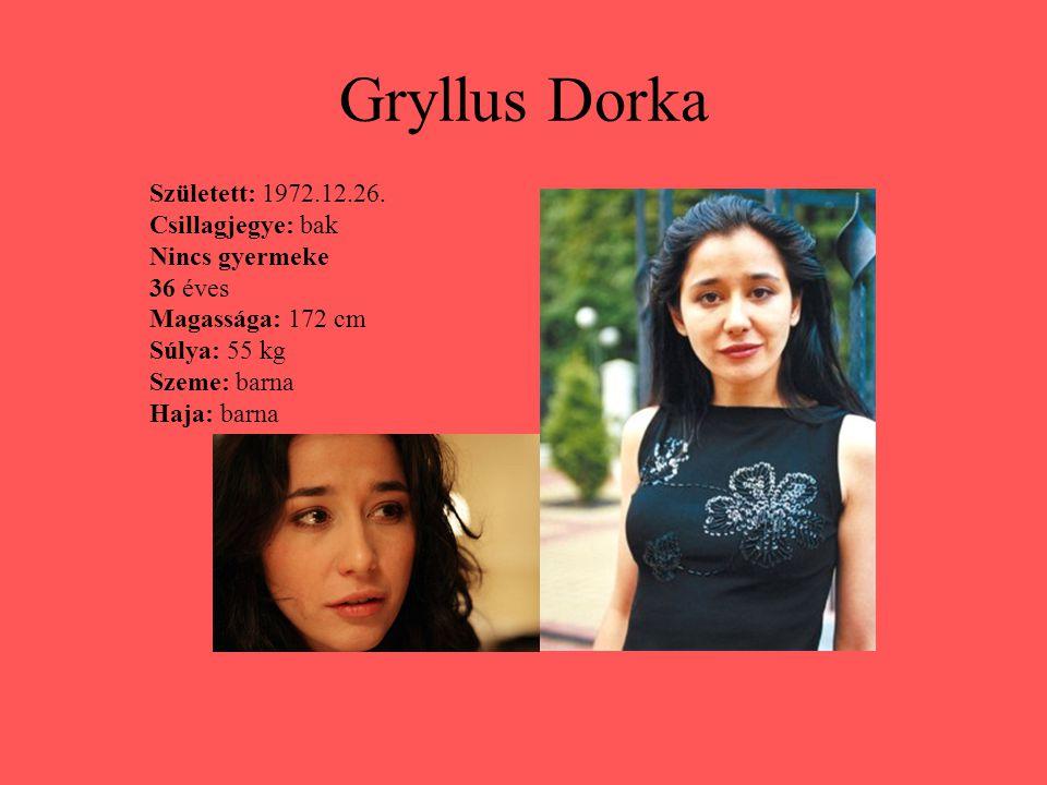 Gryllus Dorka Született: 1972.12.26. Csillagjegye: bak Nincs gyermeke