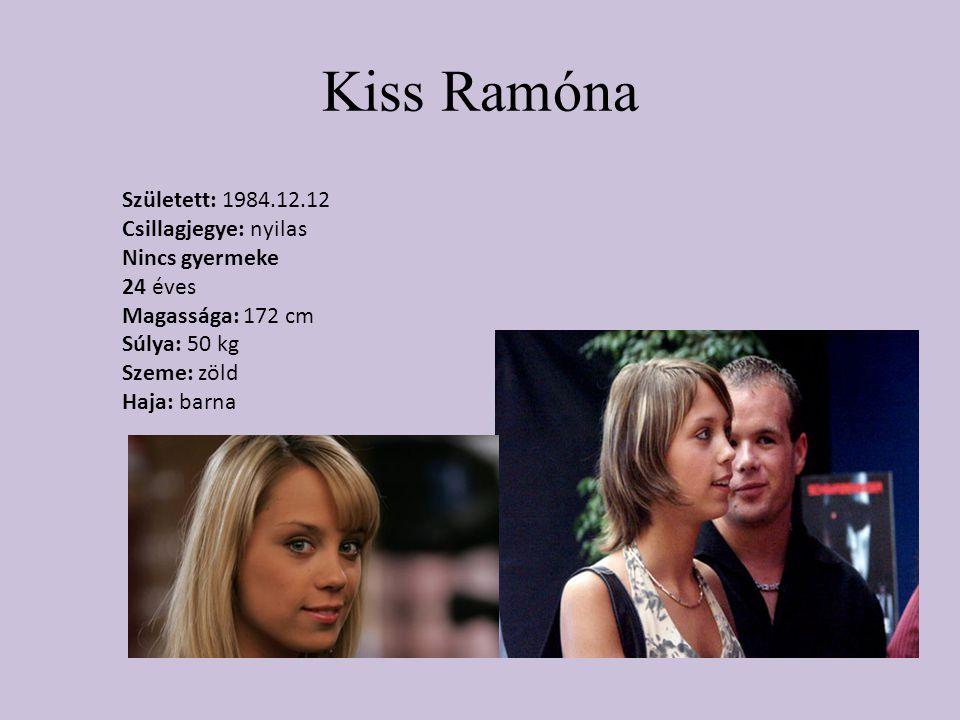 Kiss Ramóna Született: 1984.12.12 Csillagjegye: nyilas Nincs gyermeke