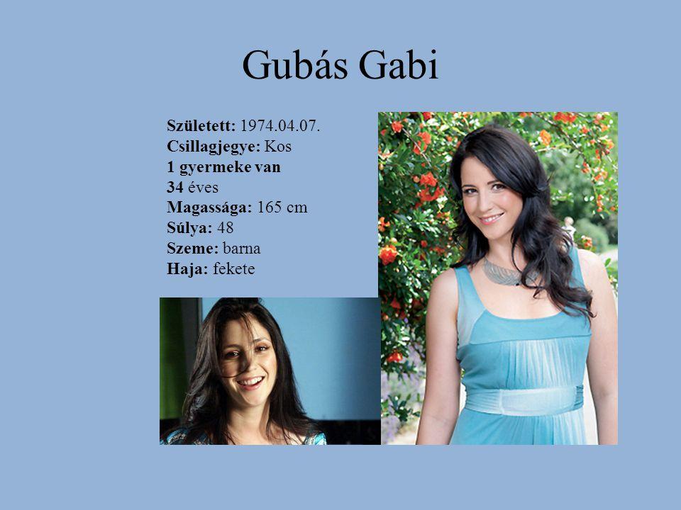 Gubás Gabi Született: 1974.04.07. Csillagjegye: Kos 1 gyermeke van