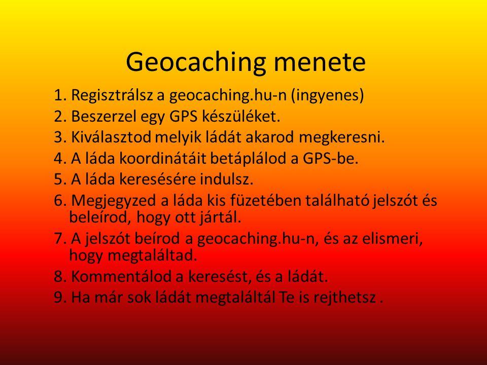 Geocaching menete