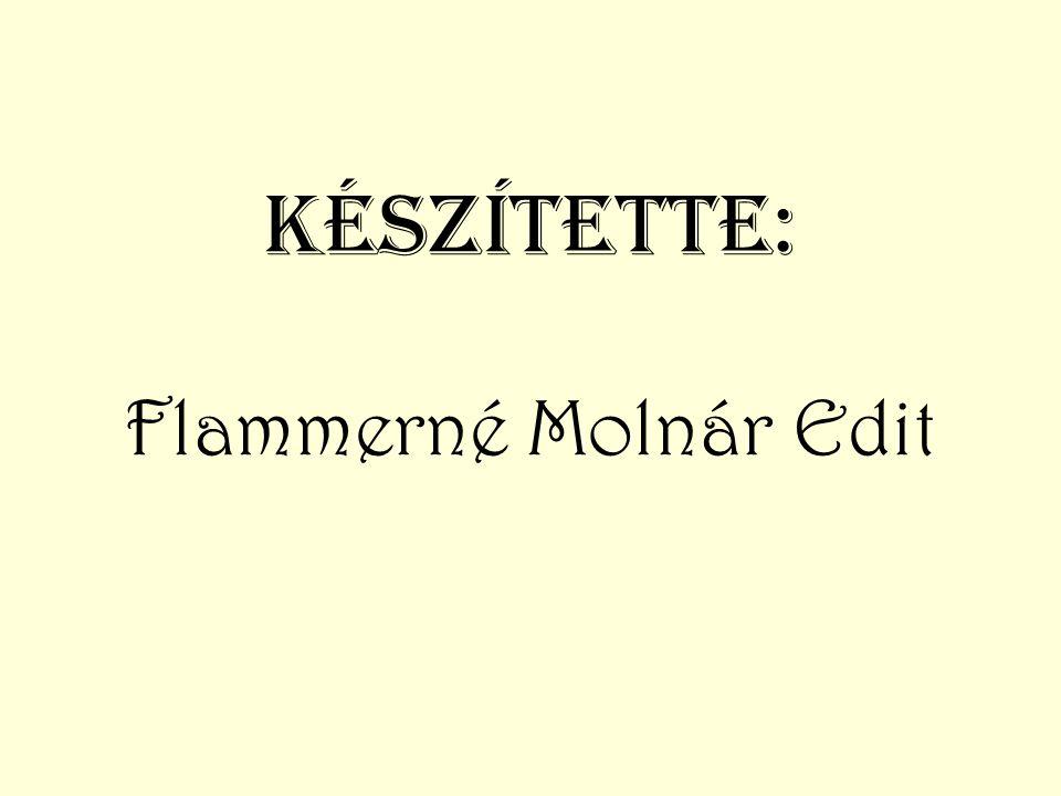 Készítette: Flammerné Molnár Edit