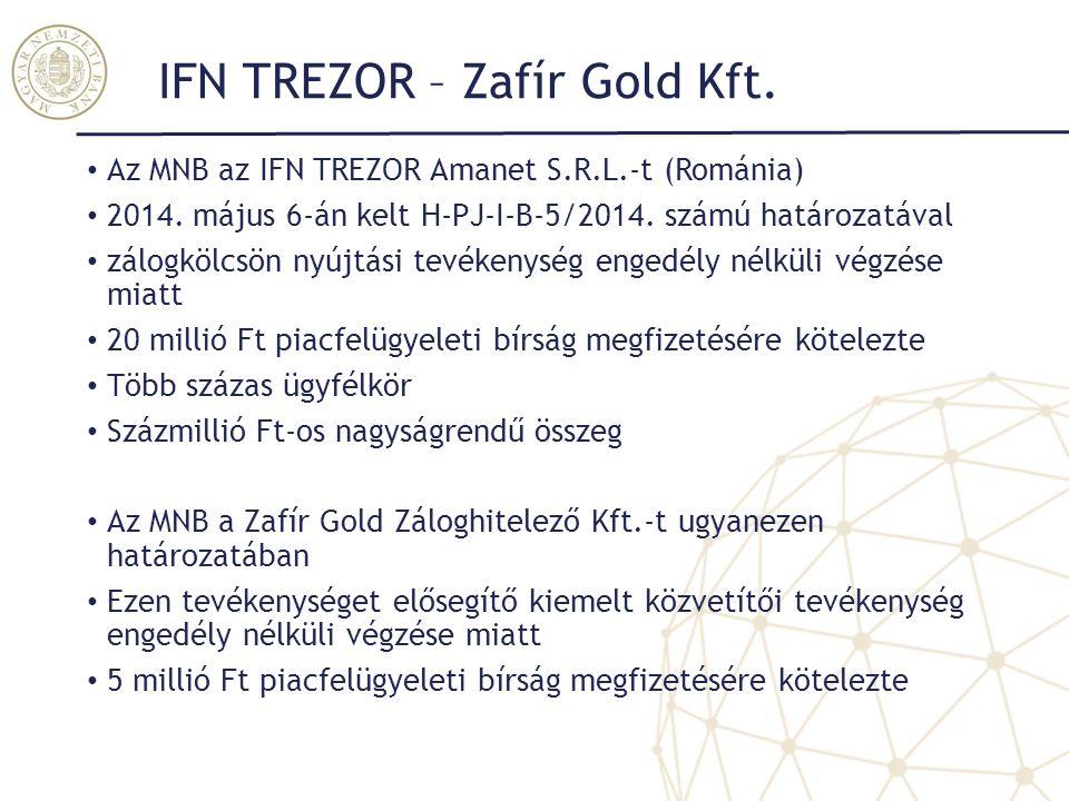 IFN TREZOR – Zafír Gold Kft.