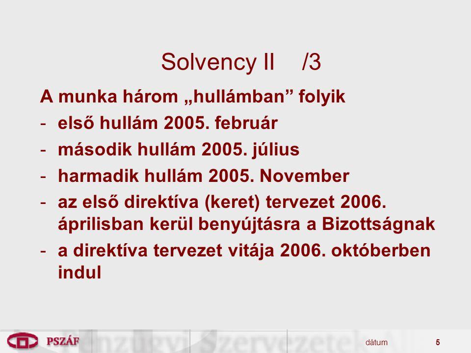 """Solvency II /3 A munka három """"hullámban folyik"""