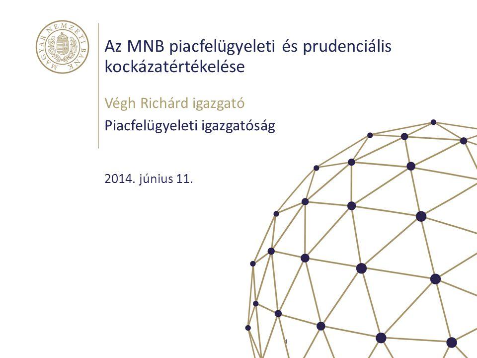Az MNB piacfelügyeleti és prudenciális kockázatértékelése
