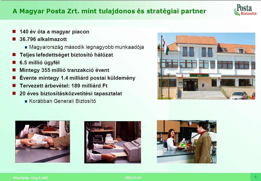A Magyar Posta Zrt. mint tulajdonos és stratégiai partner
