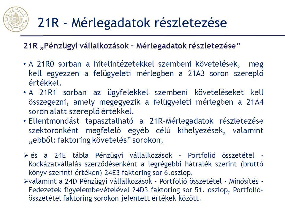 21R - Mérlegadatok részletezése