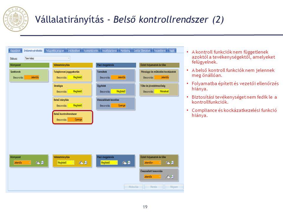 Vállalatirányítás - Belső kontrollrendszer (2)