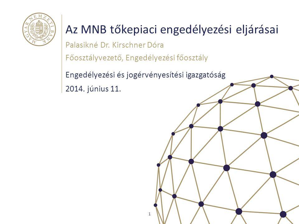 Az MNB tőkepiaci engedélyezési eljárásai