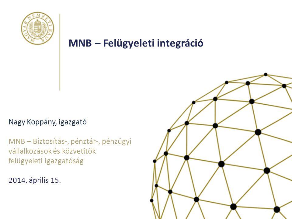 MNB – Felügyeleti integráció