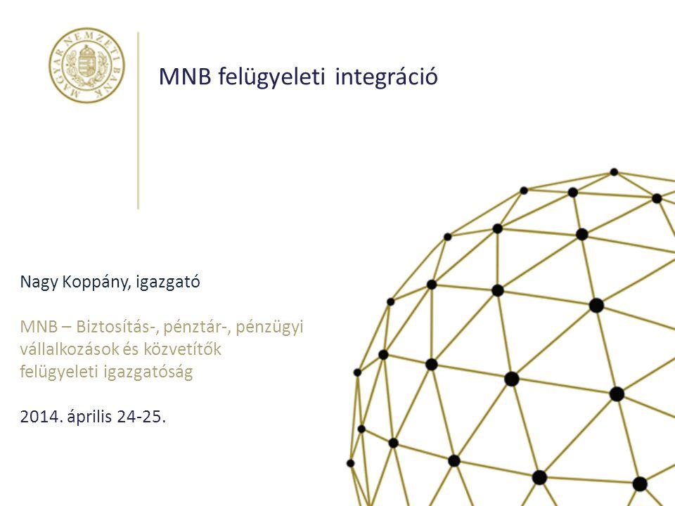 MNB felügyeleti integráció