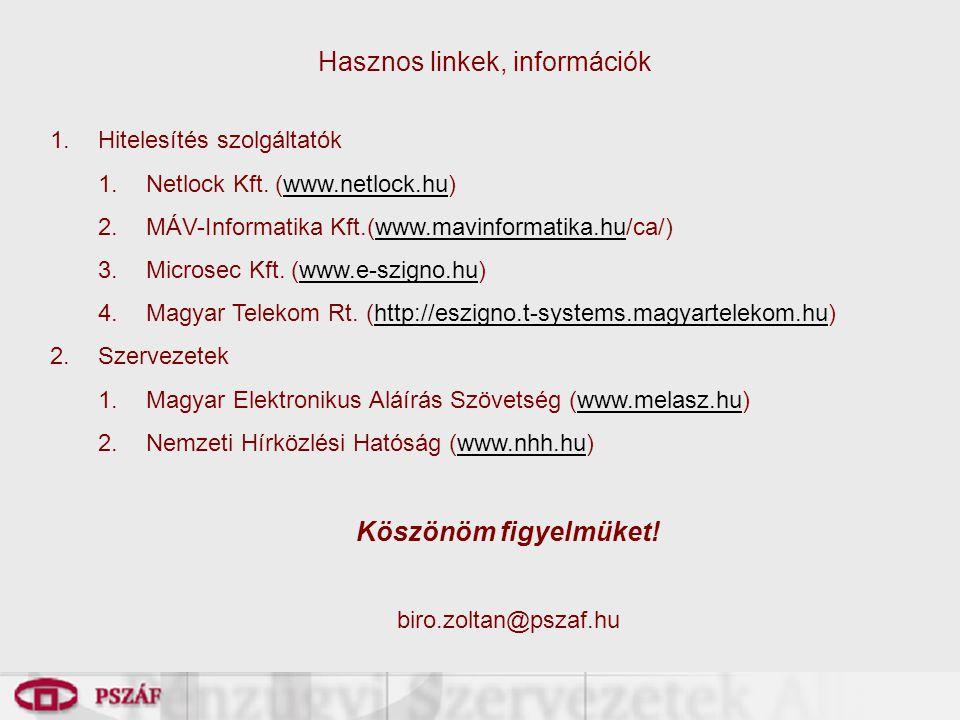 Hasznos linkek, információk
