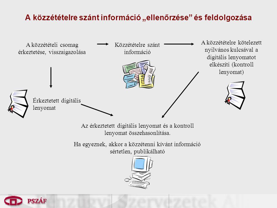 """A közzétételre szánt információ """"ellenőrzése és feldolgozása"""