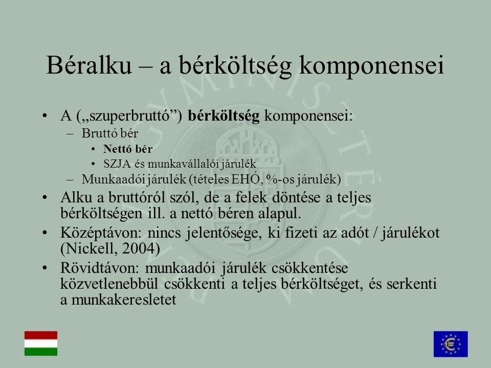 Béralku – a bérköltség komponensei