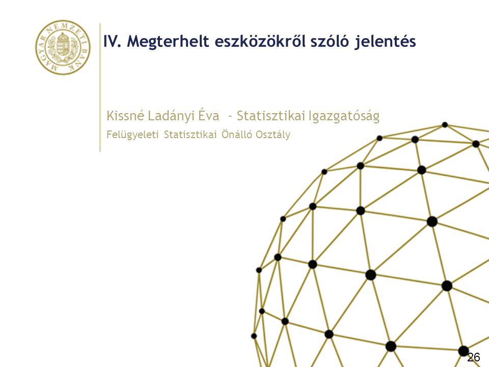 IV. Megterhelt eszközökről szóló jelentés