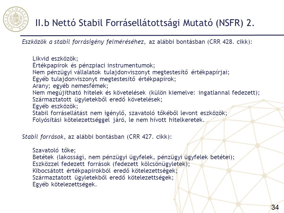 II.b Nettó Stabil Forrásellátottsági Mutató (NSFR) 2.