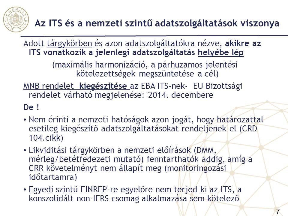 Az ITS és a nemzeti szintű adatszolgáltatások viszonya