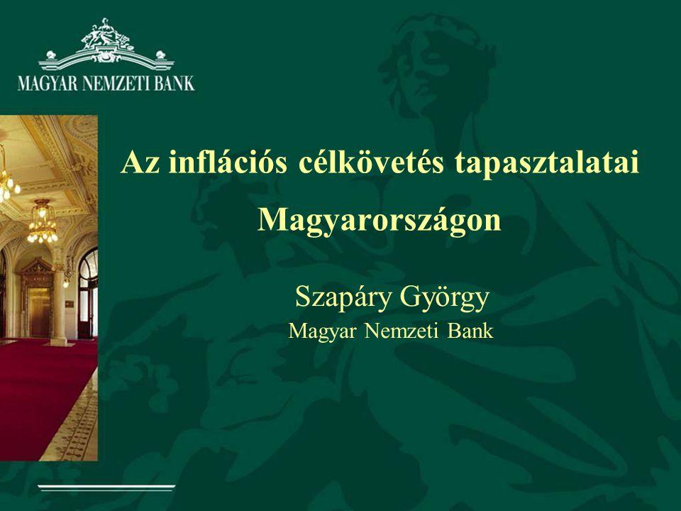 Az inflációs célkövetés tapasztalatai Magyarországon