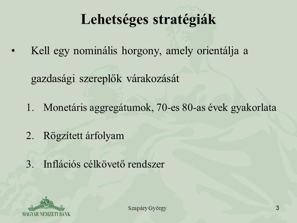 Lehetséges stratégiák