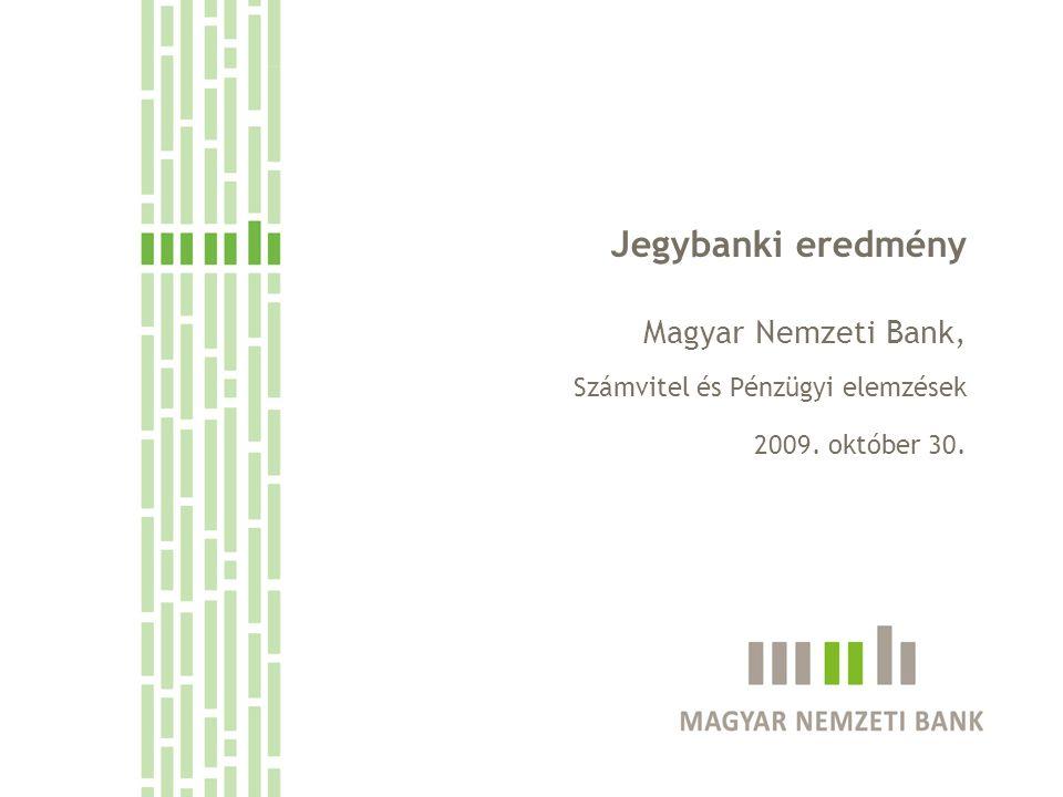 Jegybanki eredmény Magyar Nemzeti Bank,