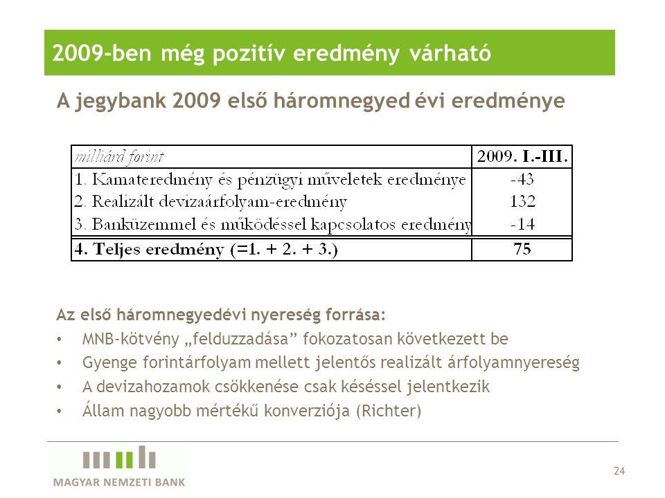 2009-ben még pozitív eredmény várható