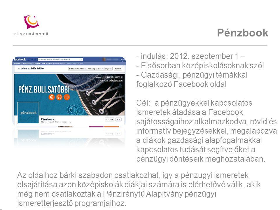 Pénzbook indulás: 2012. szeptember 1 –