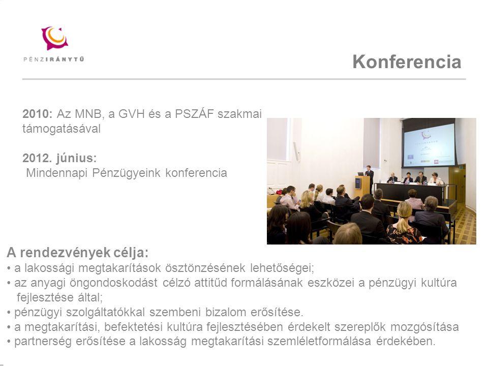 Konferencia A rendezvények célja: