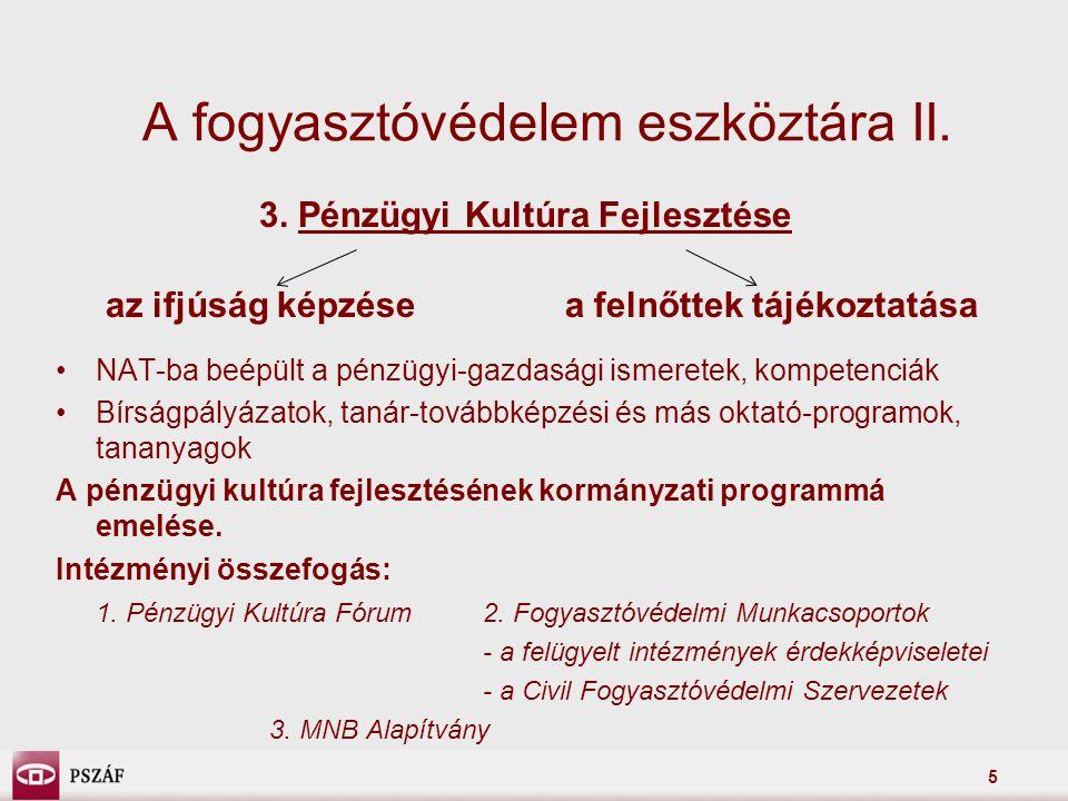 A fogyasztóvédelem eszköztára II.