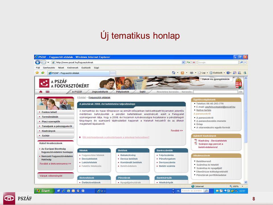 Új tematikus honlap