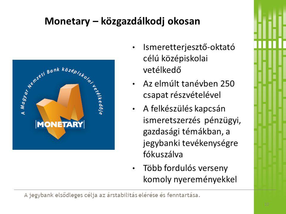 Monetary – közgazdálkodj okosan
