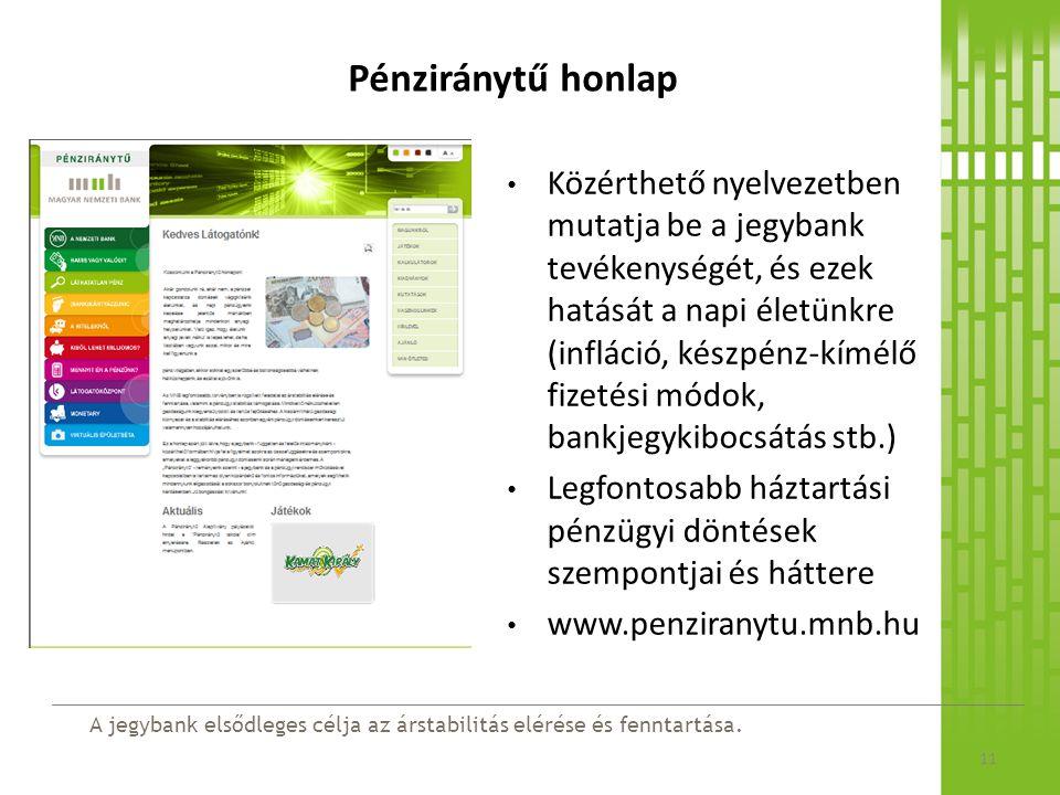 Pénziránytű honlap