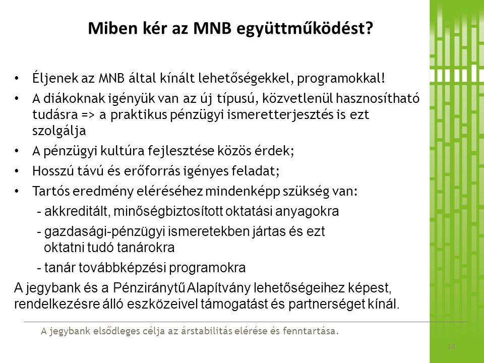 Miben kér az MNB együttműködést