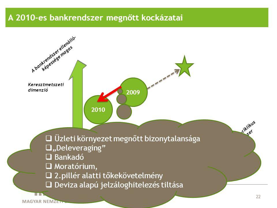 A 2010-es bankrendszer megnőtt kockázatai